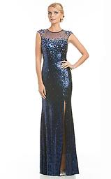 Blue Lara 21995 Light up the room in this wonderful evening dress from Lara 21995. The illusion jewel neckline bodice has crystal embellished cap sleeves and a sweetheart lining for a timeless and flattering style.