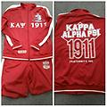 Kappa Jogging Suit - Red and white fully loaded jogging suit