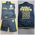 Alpha Jogging Suit - Black and gold Alpha fully loaded jogging suit