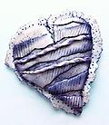 Silver Lace Heart - A modern take on a Victorian lace heart with dimensional layers