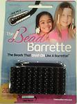 Black Bead Barrette 1 Pack - 1 Package of black Bead Barrettes. Package includes 20 barrettes (the equivalent of 140 beads!) and one barrette opener