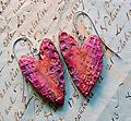 Textured Hearts Earrings - Texture, color and a bit of sparkle, these are so wearable with any outfit.