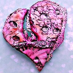 Patterned Heart Brooch/Pendant Pattern, color and a sensuous curve add style to this brooch/pendant combination.