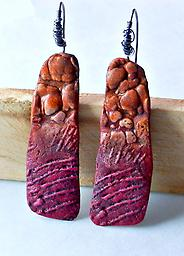 Colors of the Canyon Earrings Vibrant color and texture make a dramatic statement in these earrings.