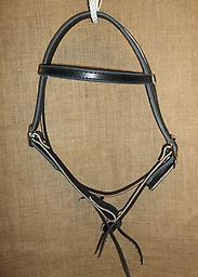 "3/4"" browband headstall 3/4 browband headstall with double cheeks and straight brow. Black leather"