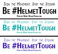 HelmetTough Bumper Vinyl - Join the Movement. Stop the Stigma. Be #HelmetTough.