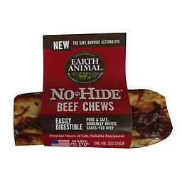 "Earth Animal No Hide Beef Chew 4"", 7""or 11"" Earth Animal No Hide Beef Chews are designed to provide dogs with an easily digestible chew that is safe and healthy! These chews are a great alternative to rawhide."