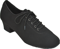 "COMFORT Closed-toe Ladies Shoes Similar to men's shoes, Lycra, practice heel (1.5"")