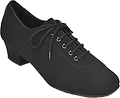"COMFORT Closed-toe Ladies Shoes - Similar to men's shoes, Lycra, practice heel (1.5"")