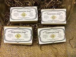 4 bars of Turpentine Soap 4 bars of handcrafted Turpentine Soap. Each bar is approximately 4.5 oz. (FREE SHIPPING via USPS Priority Mail)