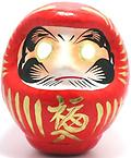 "Daruma Doll - These 3.75"" paper mache Daruma dolls are handcrafted in Takasaki, Japan, the birthplace of the Daruma doll."