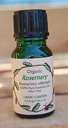 Organic ROSEMARY Essential Oil .5 oz-25% off This crisp & clean smelling essential oil is great for stimulating the brain, improving memory & mental clarity, while helping with a variety of congested respiratory tract problems.