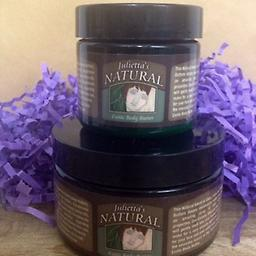 8,. Julietta's Natural 4 oz. Exotic Body Butter This Exotic Body Butter is a rich and creamy Whipped mixture of Shea, Mango & Cocoa Butter, perfect from head to toe for deep moisturizing and amazing as a daily face cream.