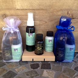 3 pc.Travel gift set The perfect set to travel with 2 oz. of Hydrating Body Mist along with 1 oz. each of Lotion and Massage and Body Oil your choice of Fragrance Set