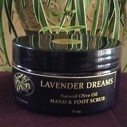 9, Julietta's Natural Lavender Dreams Hand & Foot Scrub A Natural Hand & Foot Scrub exfoliates with EV Olive Oil. It is infused with a Blend of Lavender Essential Oils & dry Lavender Herbs, that will surely reveal smooth and beautiful skin.