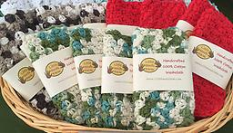 100% Cotton Face Cloth These face cloths can double as full body washcloths. They are extremely gentle on sensitive skin.