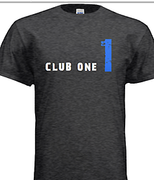 04 Club One T-Shirt, Short Sleeve Club One T-Shirt for the Only Child Club...Select the size.