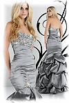 Lavender XCite 30215 - Strapless drop waist taffeta gown with pick up skirt.