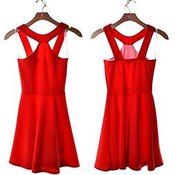 Red Skater Dress Cute semi-formal red dress. Appropriate for many occassions. Dress it up or down.