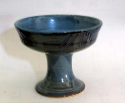 B-314 Incised Blue Footed Bowl