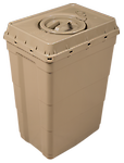 18 Gallon Safe Keeper - Designed for long term storage- the colored, 18 gallon Safe Keeper is hermetically sealed and suitable for above and underground storage.