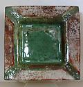 T-301 - Small tray with green and tan textured surface