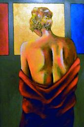 """At the Spa II Original painting in acrylic on canvas, At the Spa II, 36x24"""""""