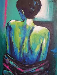 """Allure Original painting in acrylic on canvas, Allure, 24x18"""""""