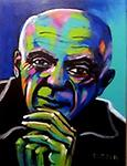 """Picasso II - Original painting in acrylic on canvas, 16x12"""""""