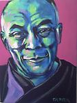 The Dalai Lama - Original painting in acrylic on canvas, 16x12""