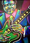B.B. King - Original painting in acrylic on canvas, 24x18""