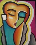 """Pablo's Pretty Lady - Original painting in acrylic on canvas, 20x16"""""""