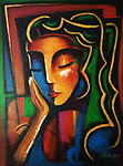 Meditation II - Original painting in acrylic on canvas, 24x18""