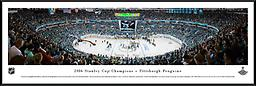 Game 6 Stanley Cup Finals Panoramic Photograph Game 6 Stanley Cup Final Panoramic Photograph 2016. 14h x 40w framed in Nielsen black metal with glass.