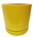 "8"" S Series Planter - Contemporary round plastic interior planters with a high gloss finish."