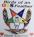 OES Birds of A Feather T-Shirt - White T-shirt
