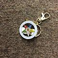 OES Star Cut Out Keychain - Gold cut out star keychain with hook