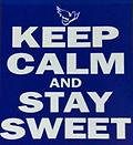 Zeta Keep Calm T Shirt - Color T Shirt Keep Calm and stay sweet with dove