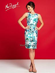 Mac Duggal 30237 Blue Multi Look brilliant for your next formal occasion in this cocktail dress from Mac Duggal 30237C. This sheath-style dress is covered with a vibrant floral print. The look finishes with a modest hem.