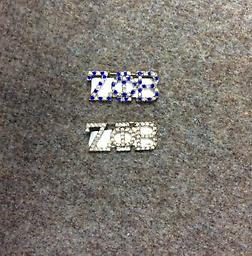 Zeta Every Other Stone Pins Zeta blue/crystal pin zeta gold pin with crystal