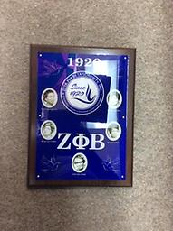 Zeta Founders Plaque Zeta plaque with all founder faces, seal and year