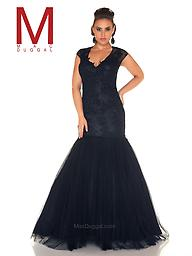 Mac Duggal 65478 Black V-Neck Gown It's a mermaid dress that goes beyond compare. With a fitted bodice and two bold colors, of Black and Midnight, this plus size mermaid prom dress is exactly what you need to make a statement.