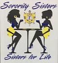 SgRho Sisters For Life White T Shirt - White shirt sorority sister with two ladies sister for life