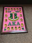 AKA Founders Plaque - Pink plague with founders, shield and letters