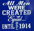 Sigma Men Created Shirt - Blue sigma all men were created equal until 1914