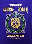 Omega Founded 1911 Shirt - Purple Omega Founded 1911 shield T Shirt