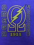 Omega Sons of Blood & Thunder Shirt - Purple omega sons of blood and thunder with lighting bolt