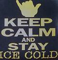 Alpha Keep Calm T Shirt - Black alpha t shirt with keep calm and stay ice cold