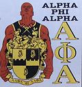 Alpha Man&Shield T Shirt - White t shirt with alpha man holding the shield and symbols