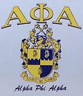 Alpha White Shield T Shirt - White alpha shirt with shield and letters